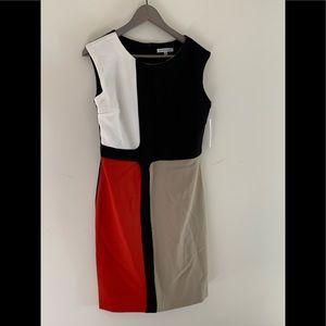 New Sandra Darren Color-block Dress